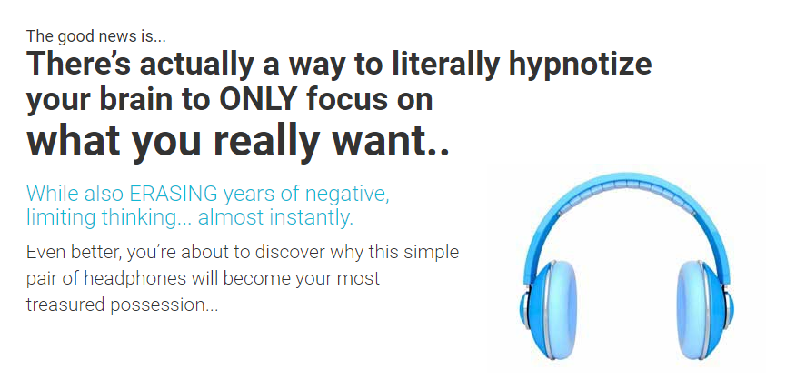 Literally hypnotize your brain!