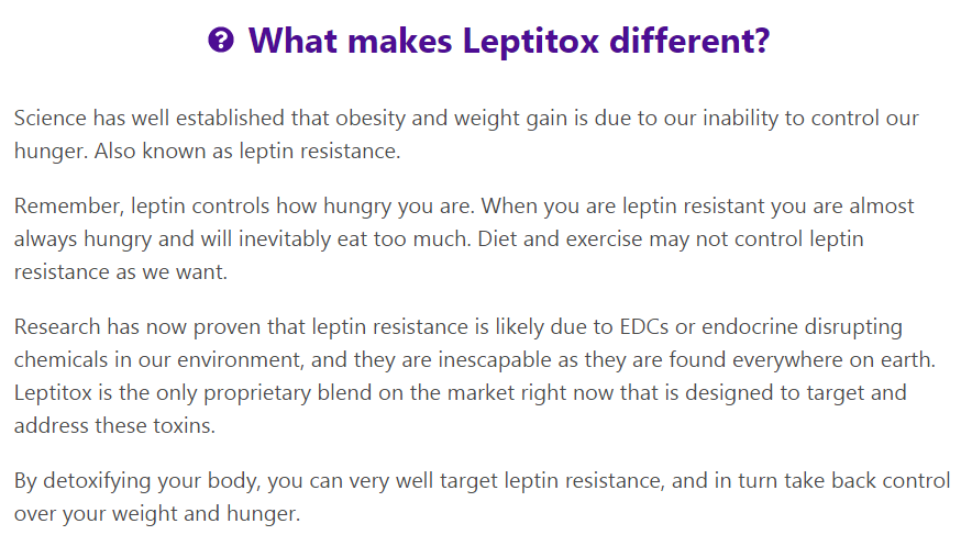 What makes Leptitox different?