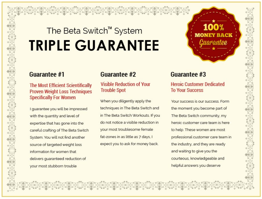 The Beta Switch System Triple Guarantee
