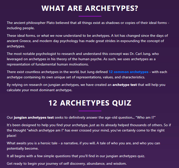 What are Archetypes?