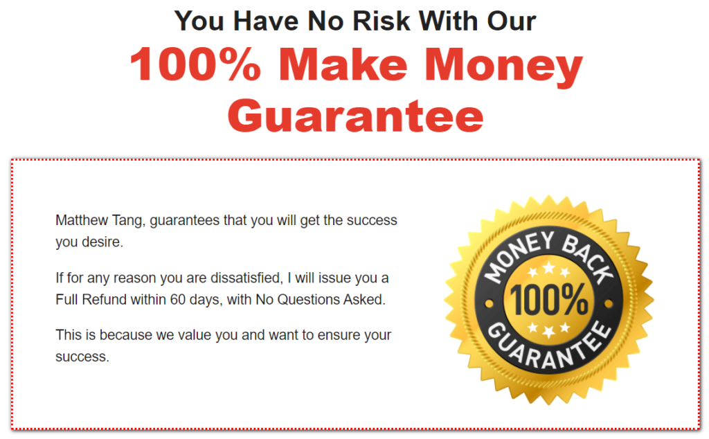 Click Wealth System Money Back Policy